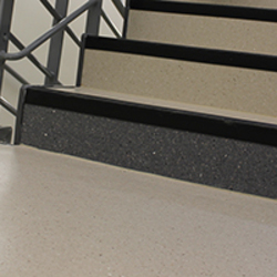 Grooved PVC Stair Nosing T27/3R