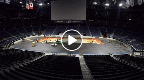 Gerflor Court Installation NCAA Women Basketball 2019